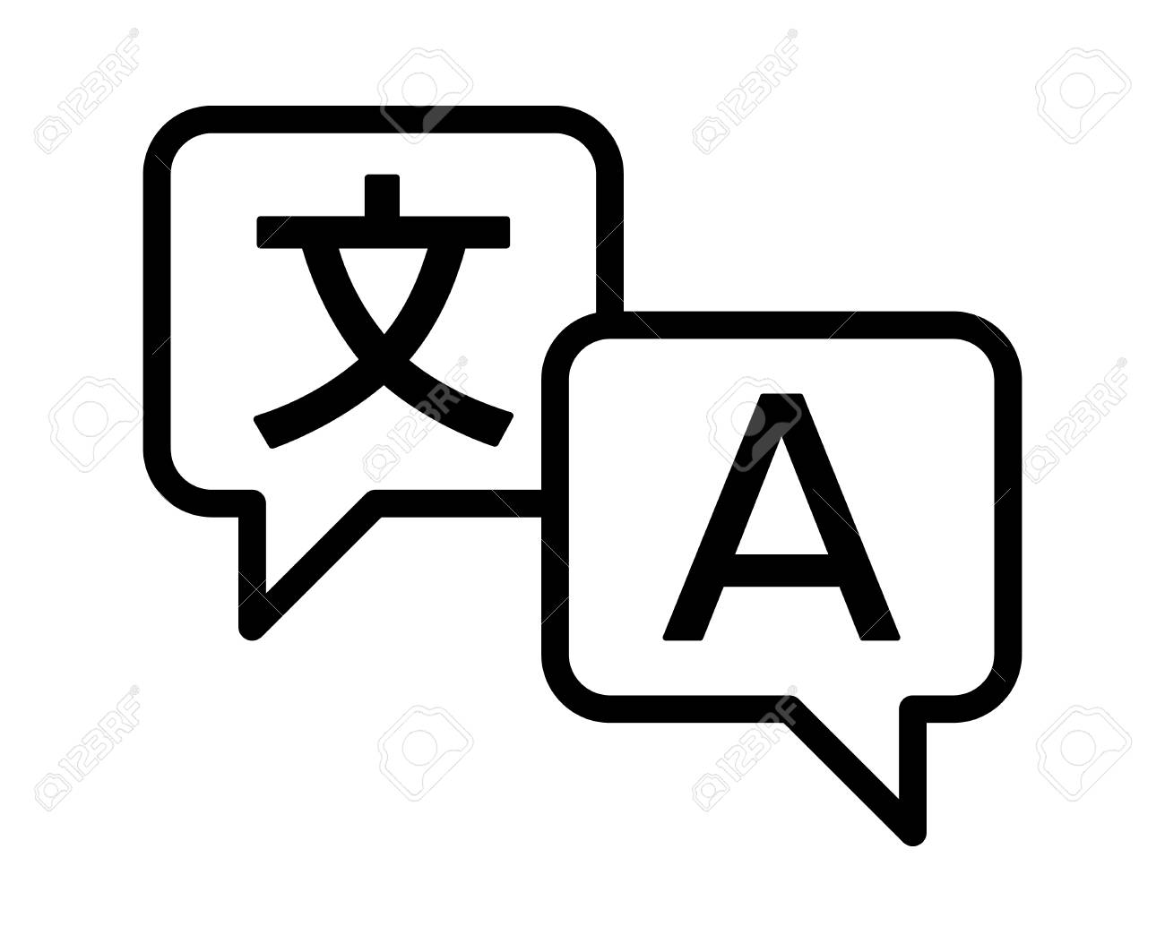 Language translation or translate service line art vector icon for apps and websites - 88619457