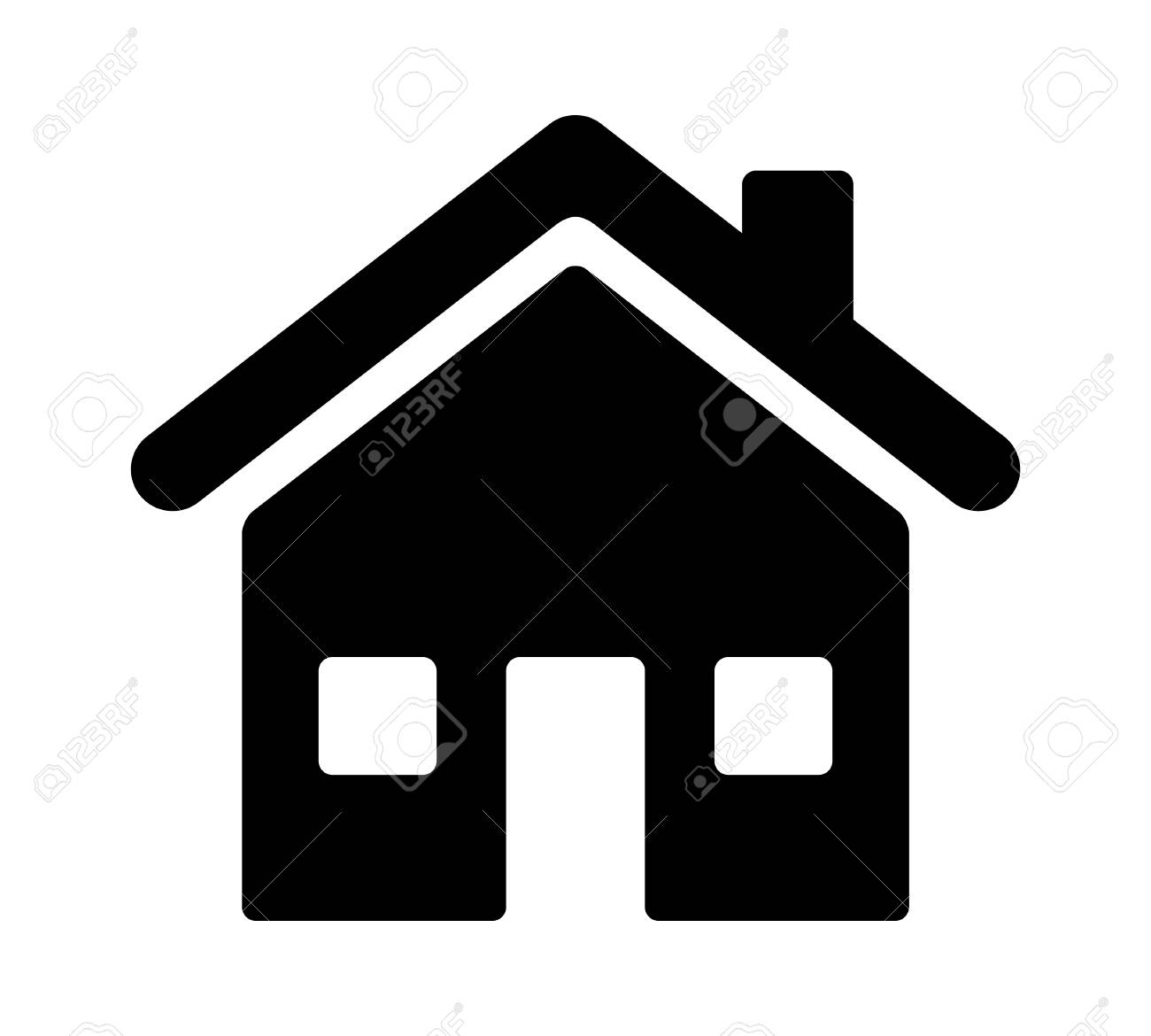 House, home residence address or real estate flat vector icon