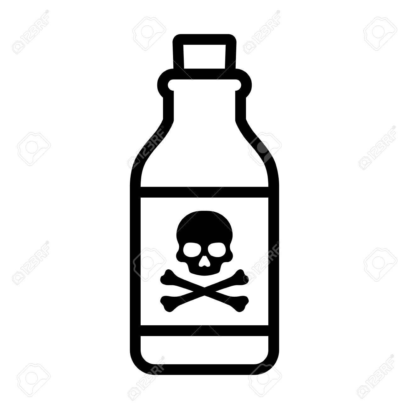 timeless design 06ae0 109c2 Bottle of poison or poisonous chemical toxin with crossbones..