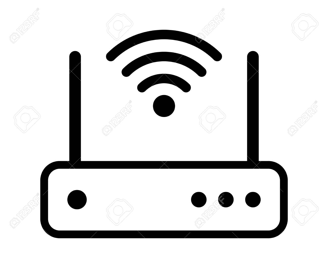 Internet service wireless router / modem with wifi signal line