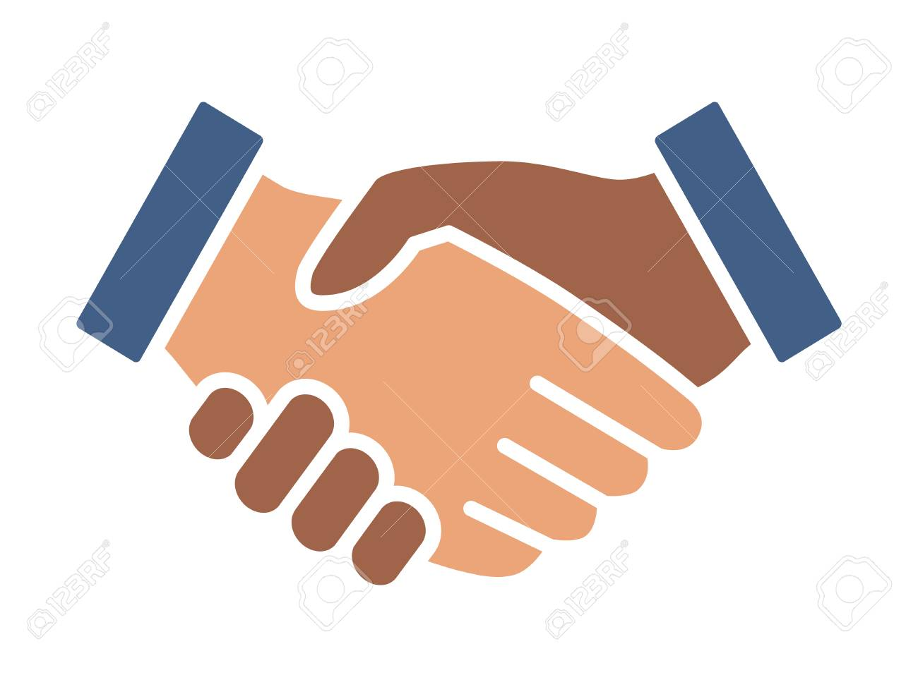 Black And White Handshake Or Shaking Hands In Unity And Peace Royalty Free Cliparts Vectors And Stock Illustration Image 104522089