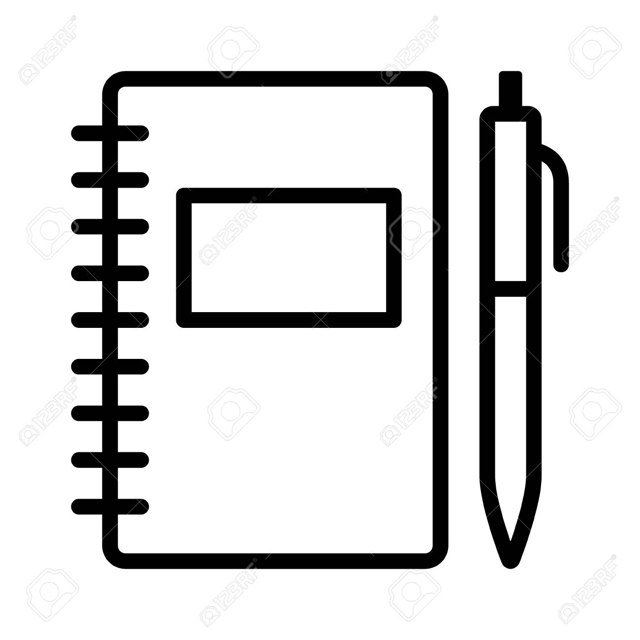 note taking notebook or diary / journal with pen for writing