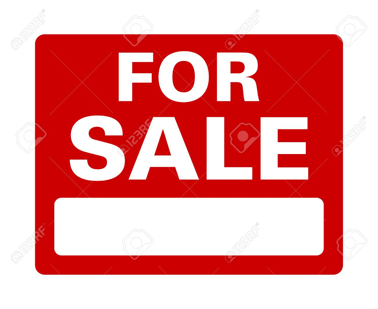 image regarding For Sale Sign Printable called Crimson for sale indicator with black area flat vector signal for print