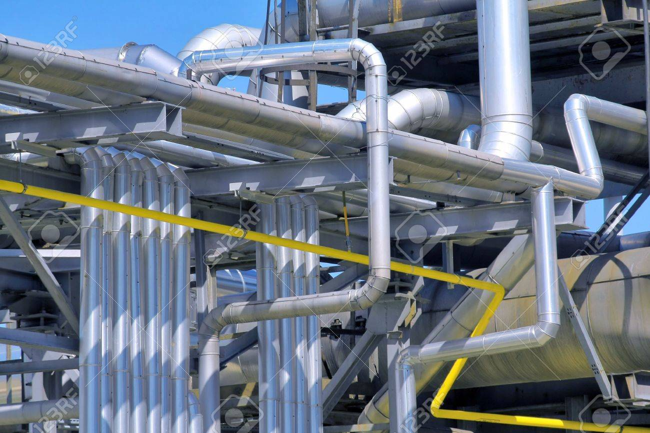 refinery piping Stock Photo - 8256347