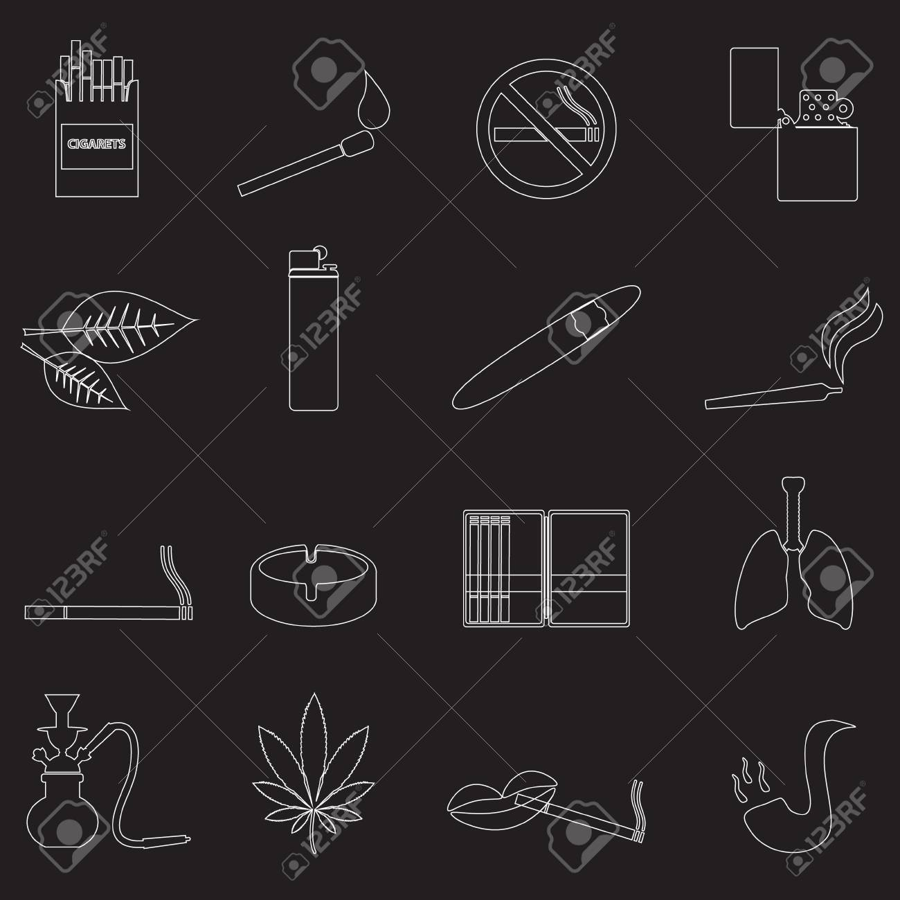 outline about smoking cigarettes