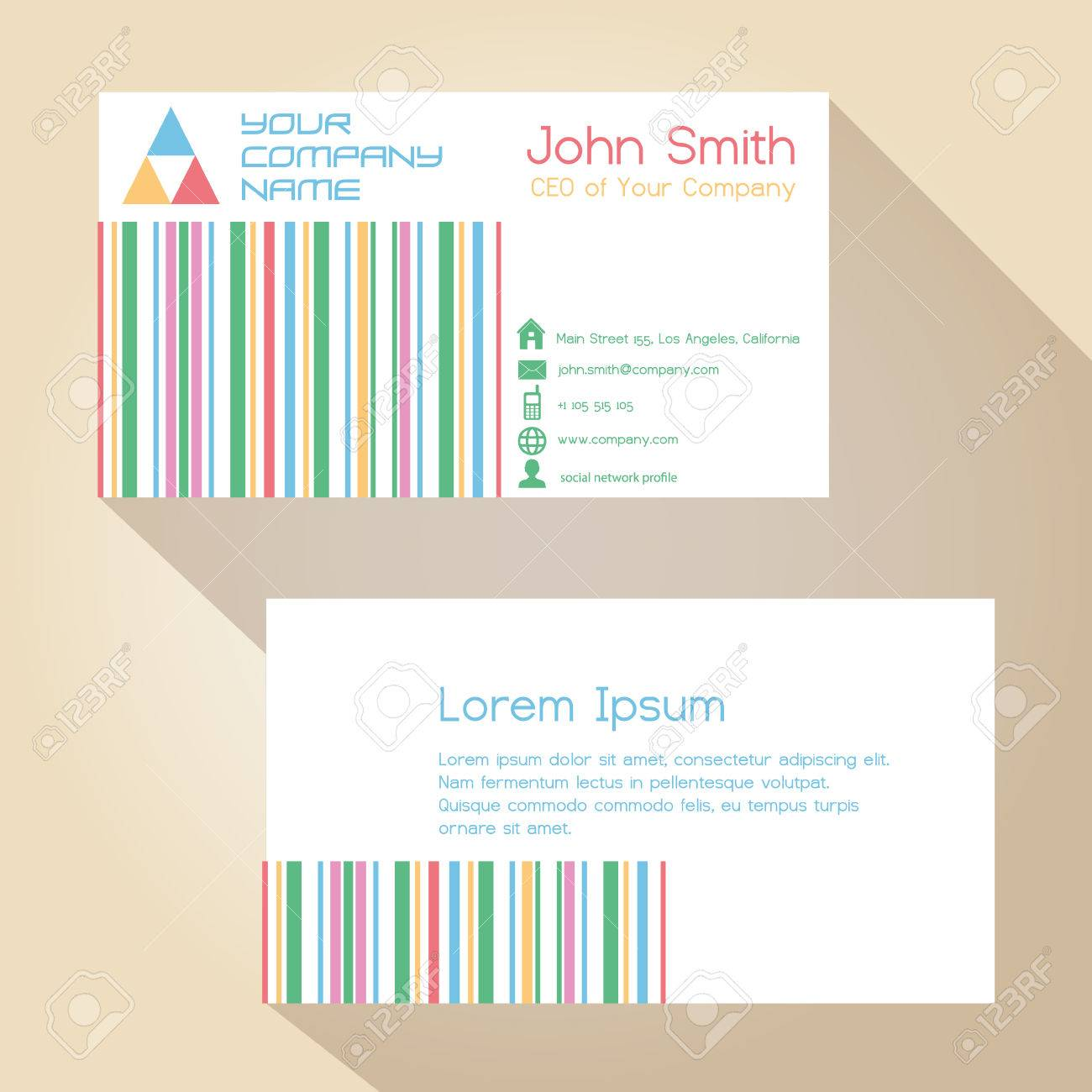 Color funky lines white simple business card design royalty free color funky lines white simple business card design stock vector 41163244 colourmoves