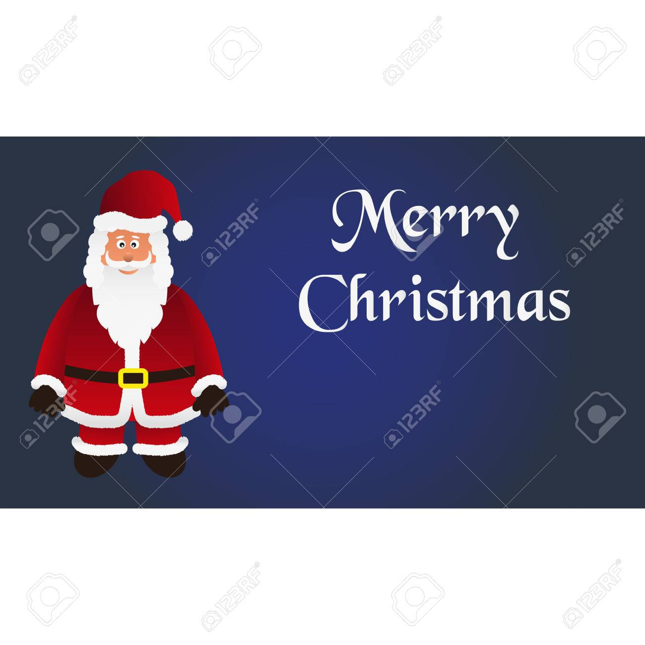 Mery Christmas.Mery Christmas With Cartoon Santa Claus With Red Outfit