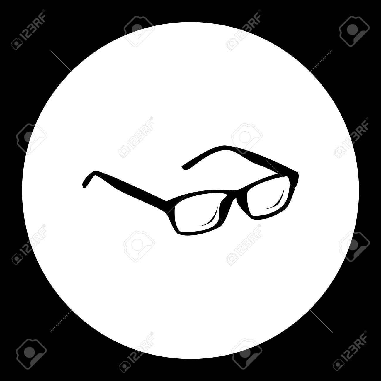 a673d8f82078b1 Zwarte Geïsoleerde Oog Glazen Symbool Eenvoudige Pictogram Royalty ...