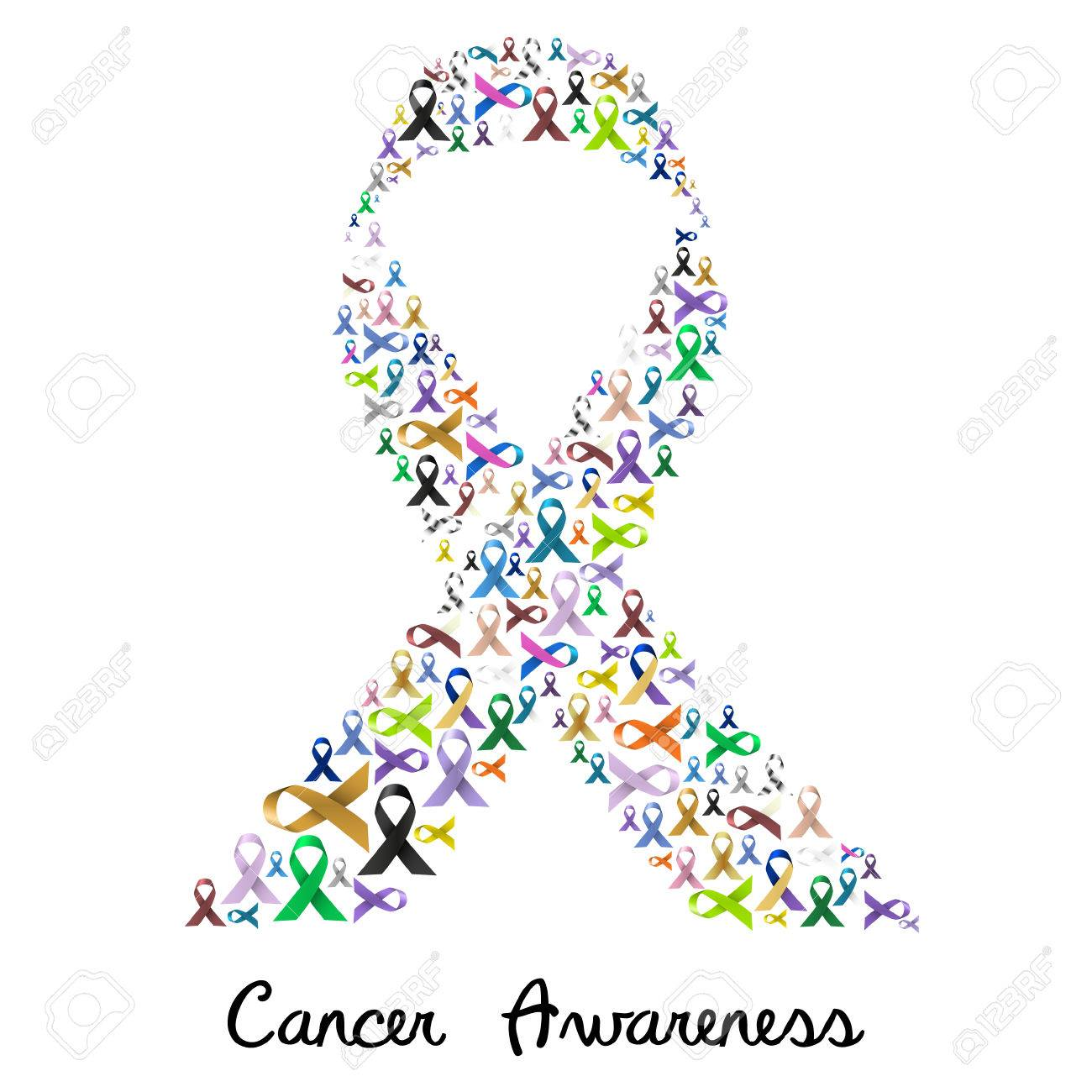Cancer awareness various color and shiny ribbons for help like cancer awareness various color and shiny ribbons for help like a big colorful ribbon stock vector biocorpaavc Gallery