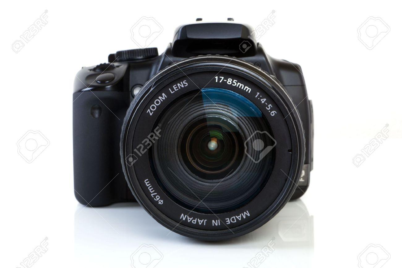 Digital Single Lens Reflex Camera on white background. Stock Photo - 8033305