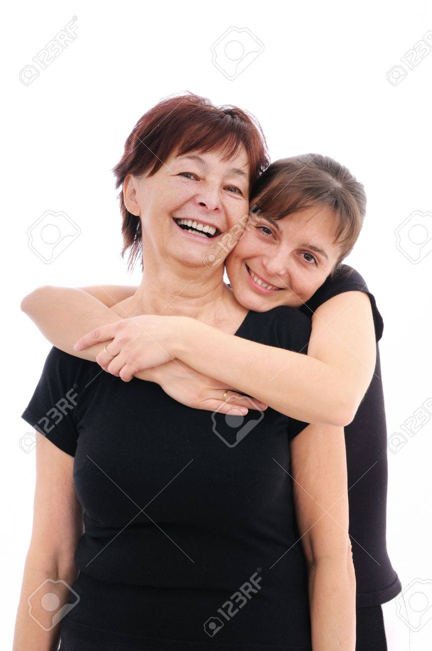 Happy senior woman with her smiling daughter Stock Photo - 5591640
