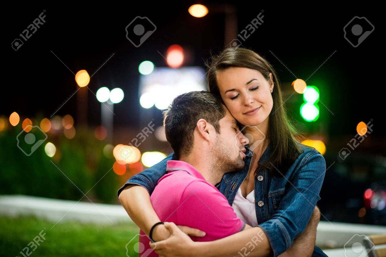 Couple dating at night stock photo 35382189