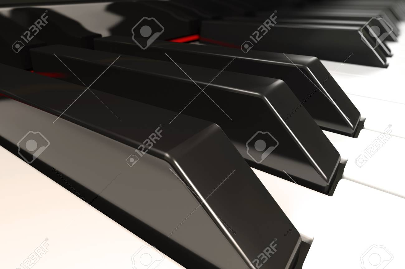 Close-up of a piano keyboard with shallow depth of field Stock Photo - 6951797