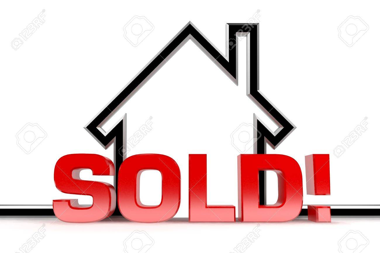 A graphic depiction of sold real estate Stock Photo - 8293564