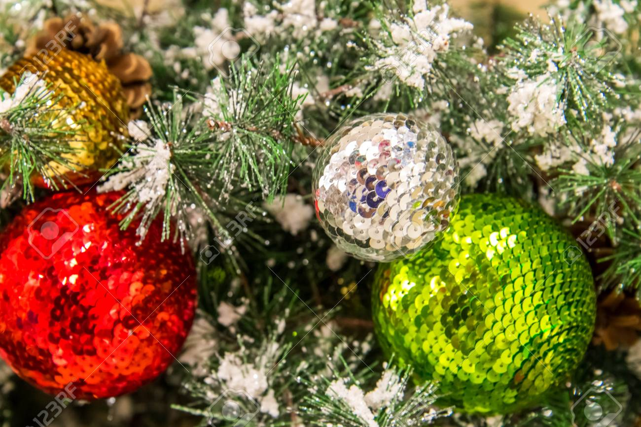 Christmas Decorations Ornaments Gold Silver Green Red Stock Photo Picture And Royalty Free Image Image 32773594