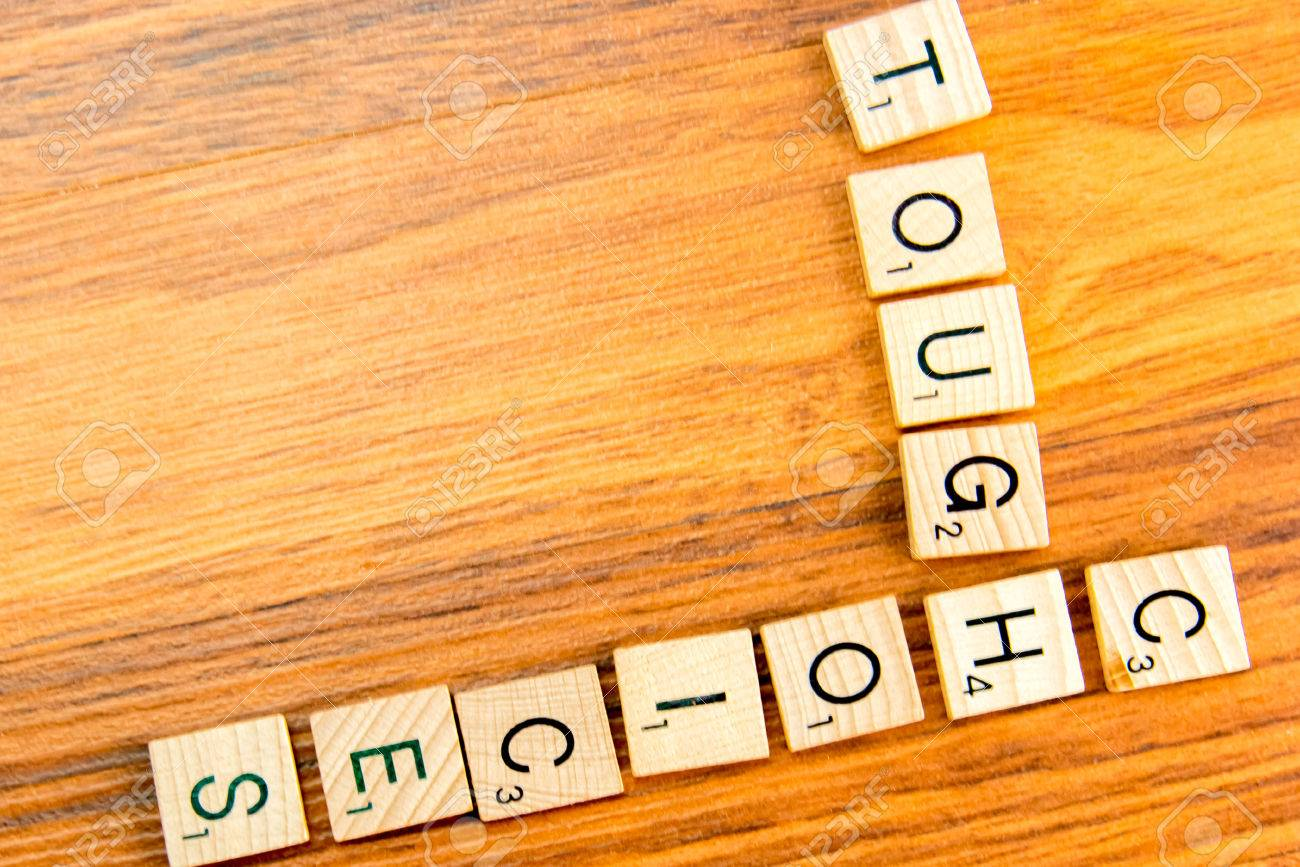 Word Board Tiles Spelling TOUGH CHOICES Stock Photo, Picture And ...
