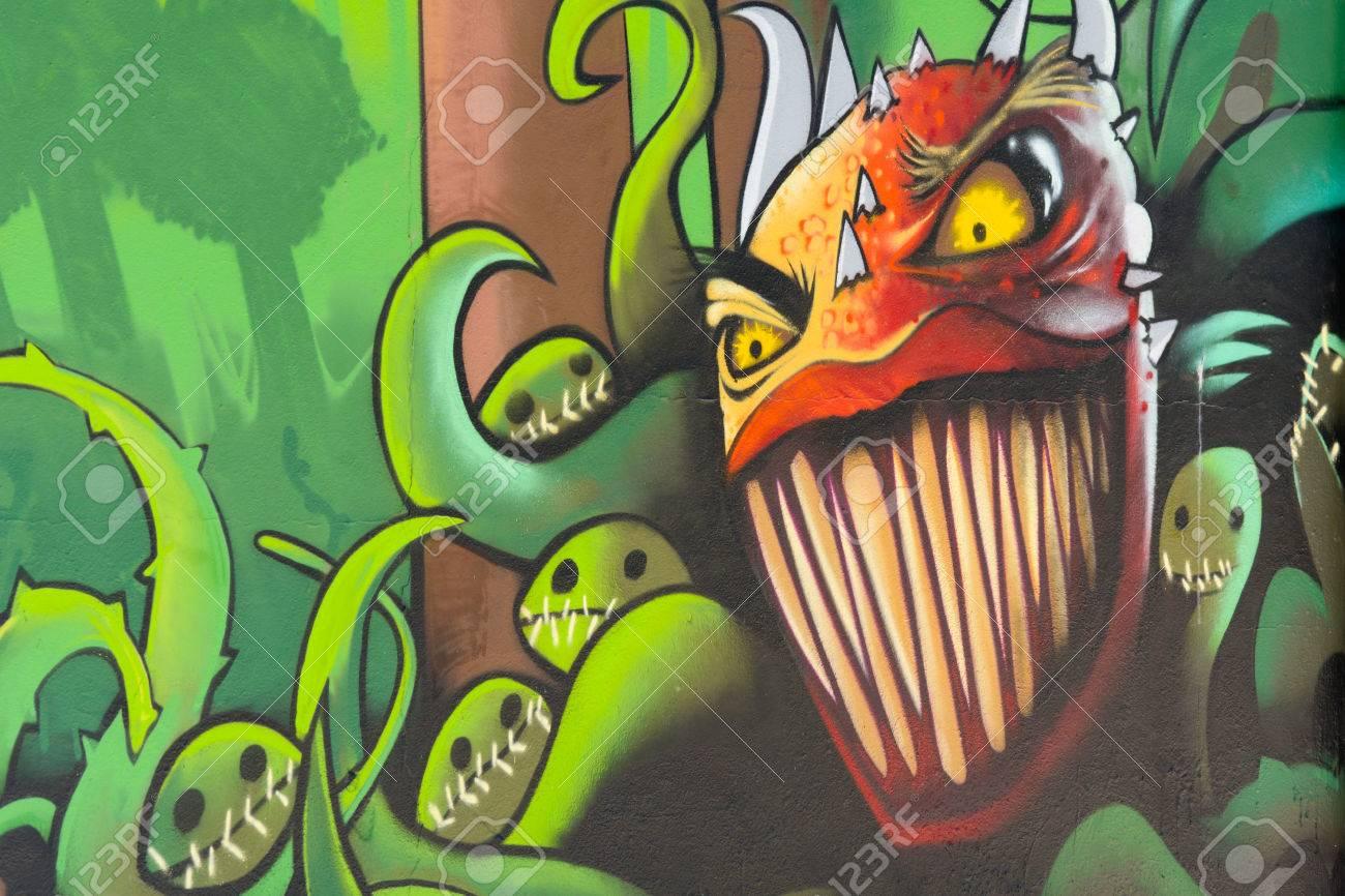 Bordeaux Frankreich 24 Juni 2015 Waldpflanzen Monster Mit Grossen
