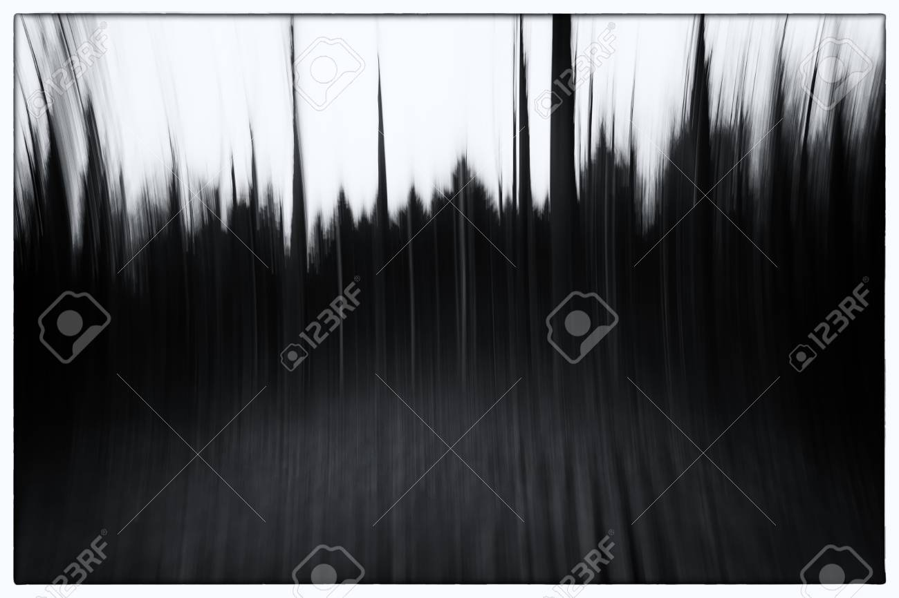 A black and white photo of a conceptual photo using slow shutter