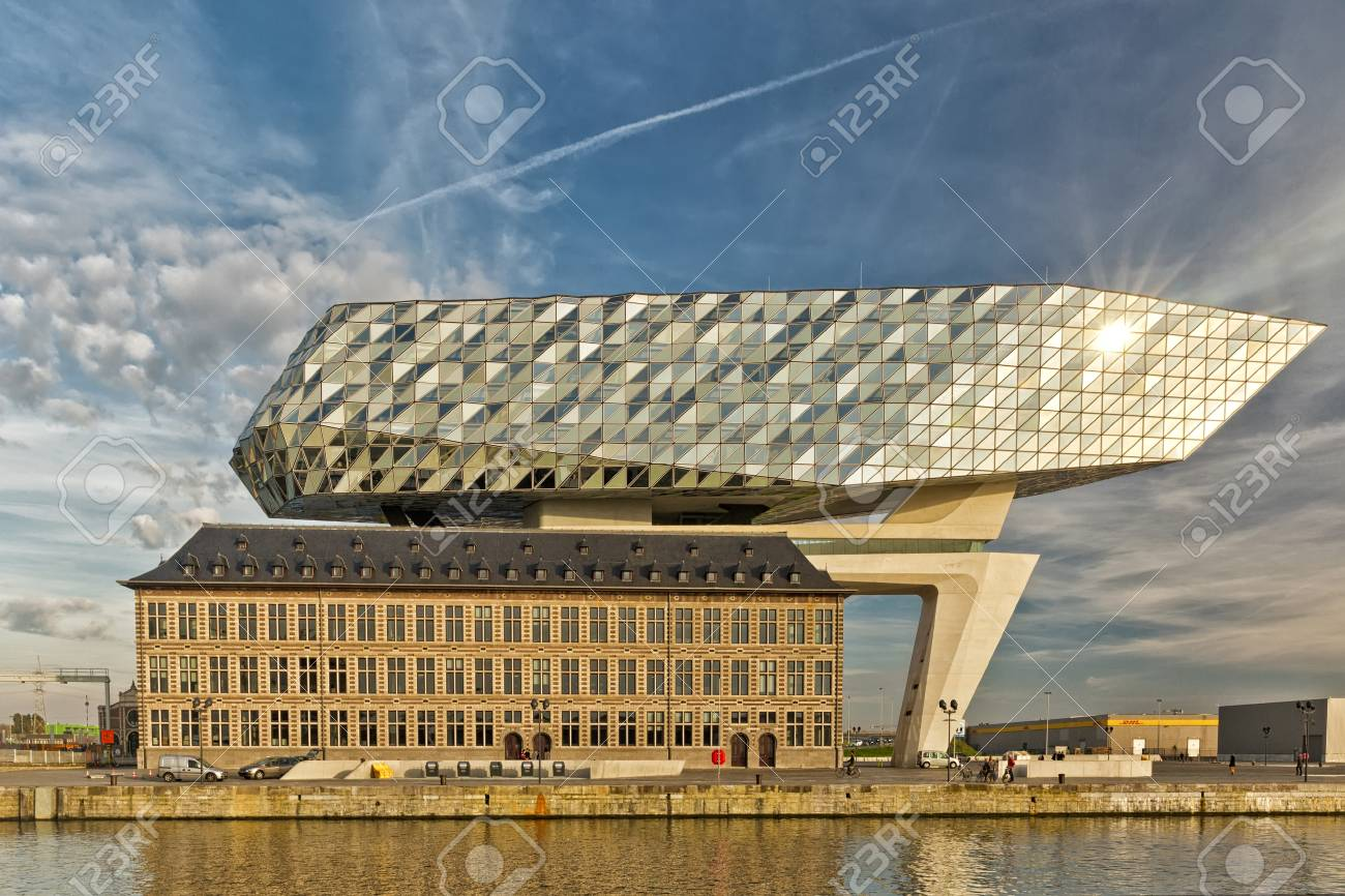 Antwerp Belgium October 2016 The New Port House In Antwerp Stock Photo Picture And Royalty Free Image Image 68684585
