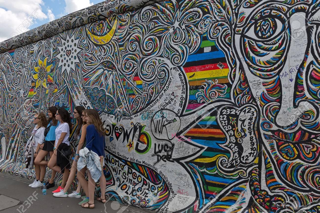Berlin Wall Graffiti On East Side Gallery