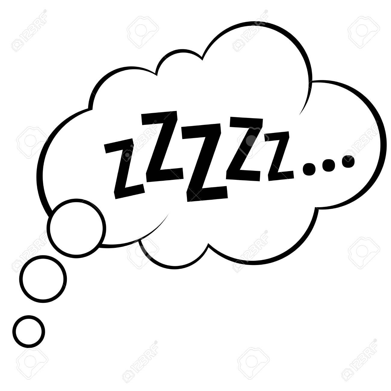 Sleep comic bubble zzzzz vector illustration - 97575232
