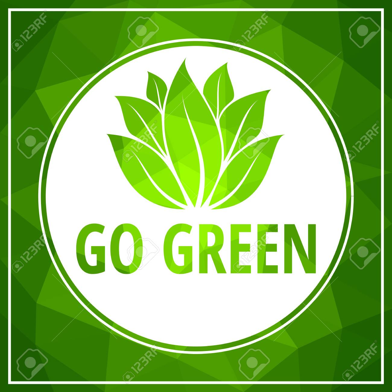 Go green icon green leaf vector illustration isolated on white - 97575234