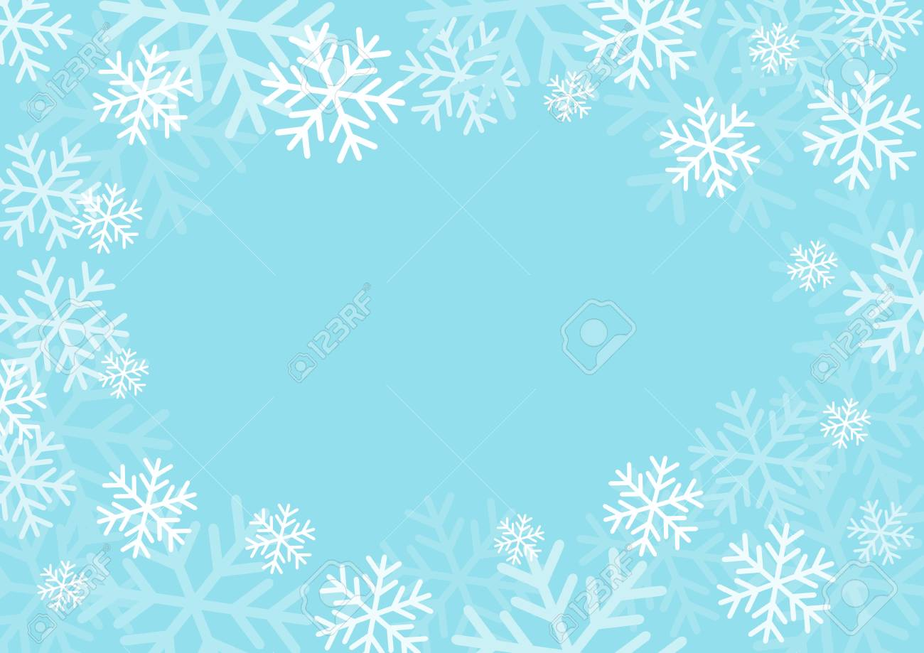 Winter card with snowflakes. Vector paper illustration. - 97575246