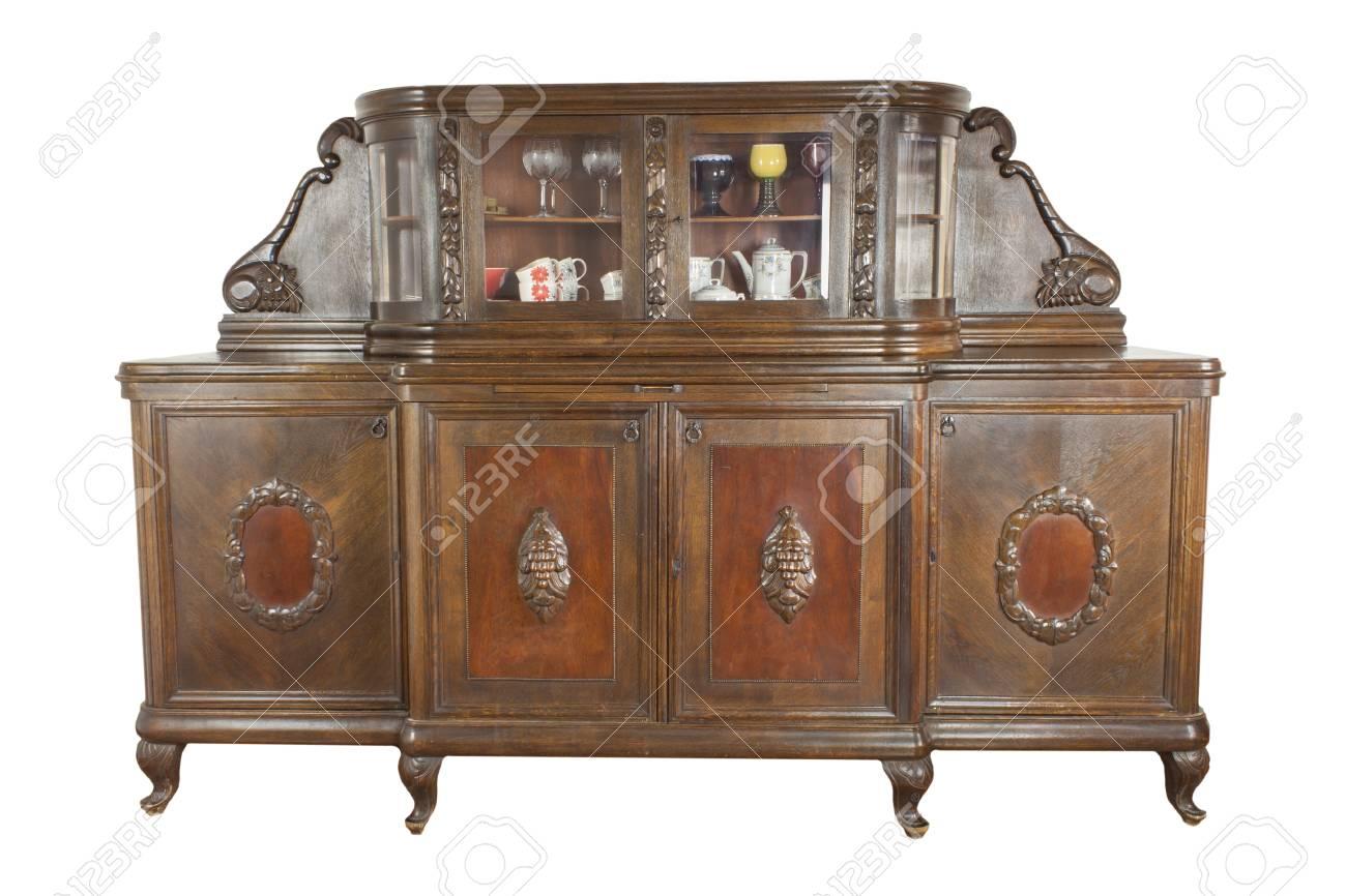 Vintage Gabinete De Madera De Arte Nouveau Aislado Sobre Fondo  # Muebles Historicos