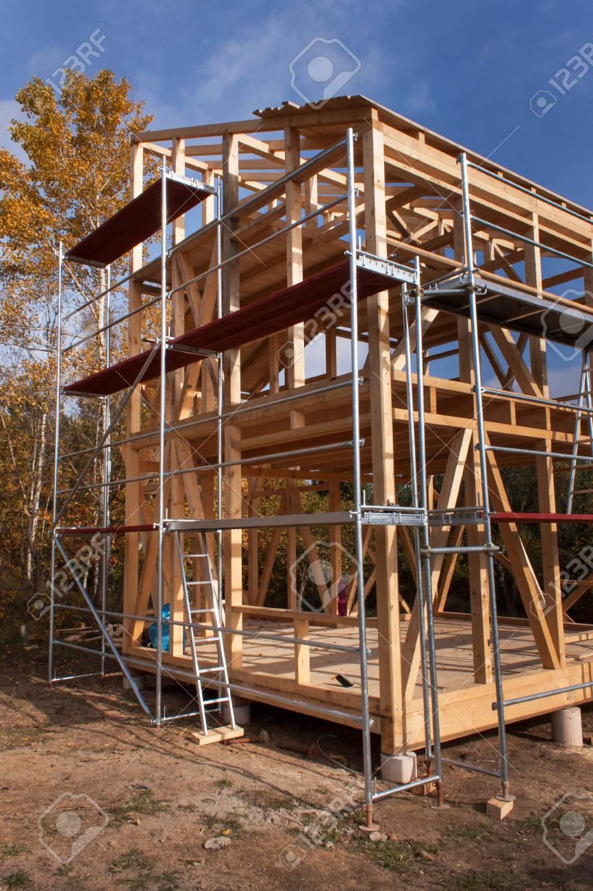 Increíble Construcción De La Casa De Marco De Madera Embellecimiento ...