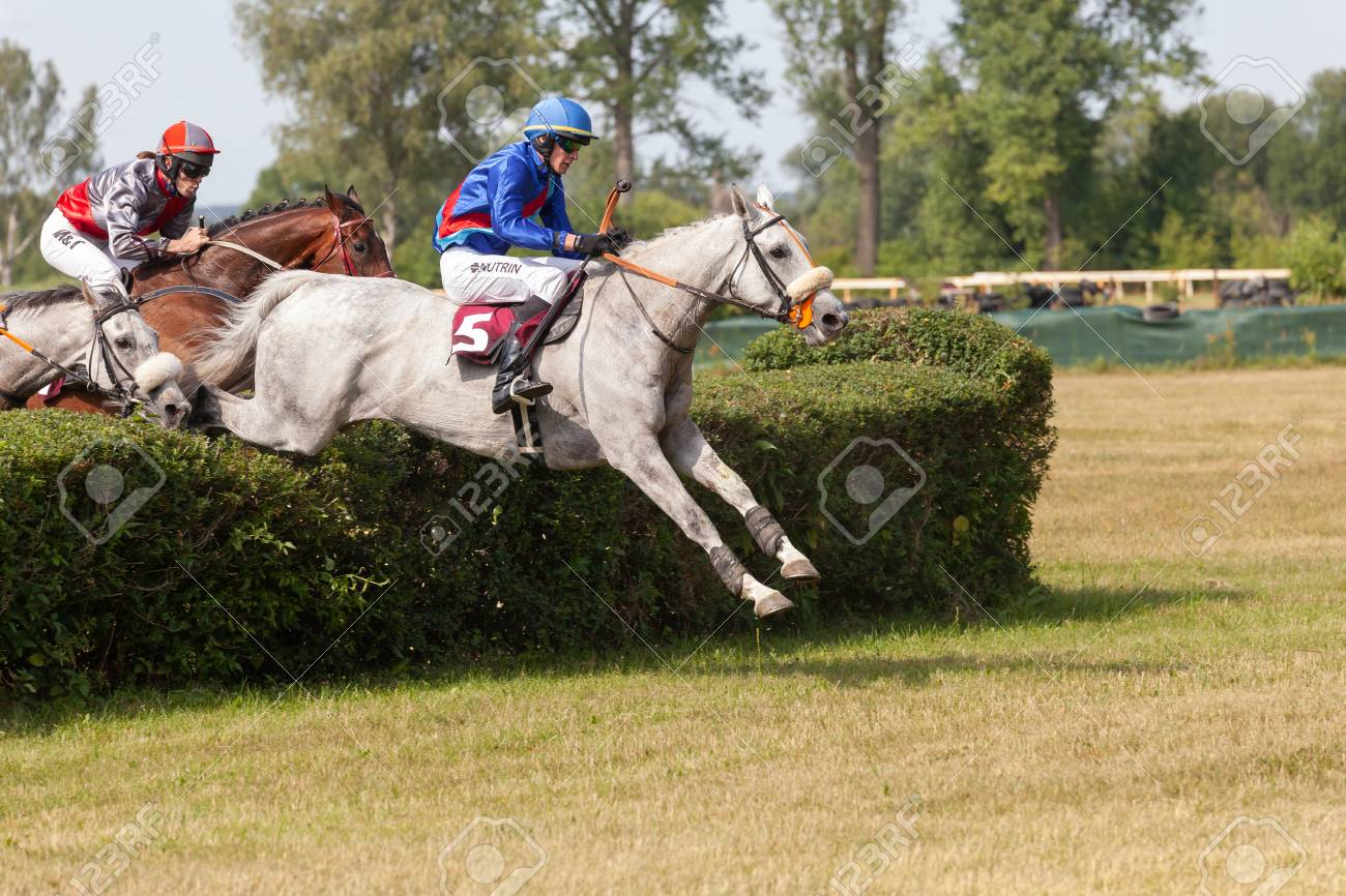 Lysa Nad Labem Czech Republic July 6 2018 Jockey And His Stock Photo Picture And Royalty Free Image Image 114942646