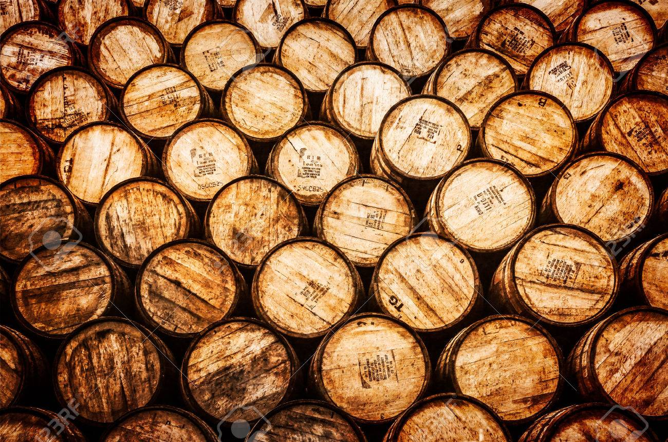 stack wine barrels. Detail View Of Stacked Whisky And Wine Wooden Barrels In Vintage Style Stock Photo - 24106840 Stack