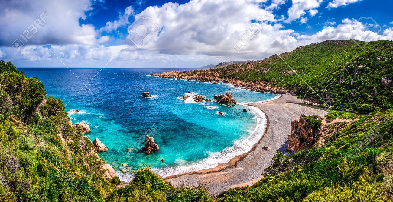Beautiful ocean coastline in Costa Paradiso, Sardinia, Italy - 30561693