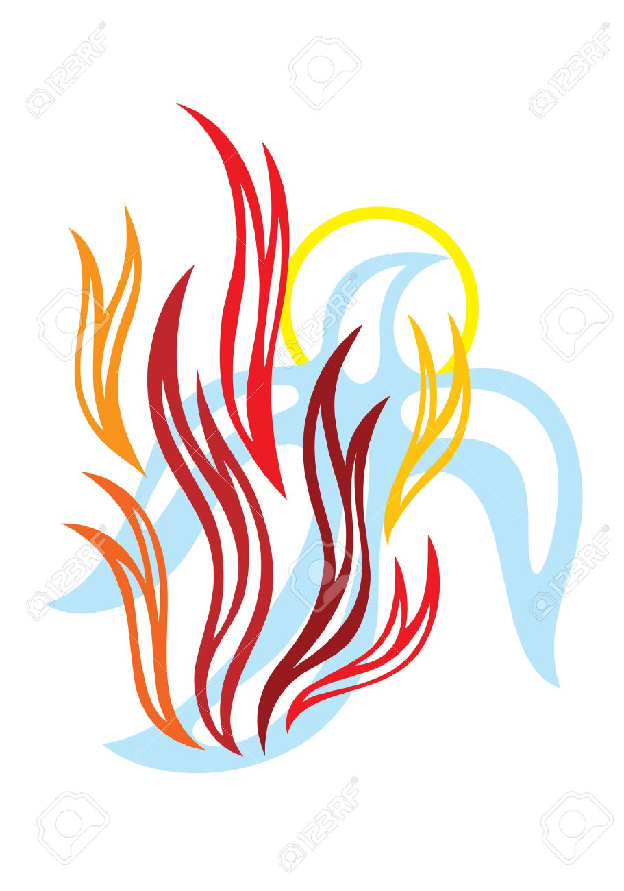 Fire Of Holy Spirit, Art Vector Design Royalty Free Cliparts ...