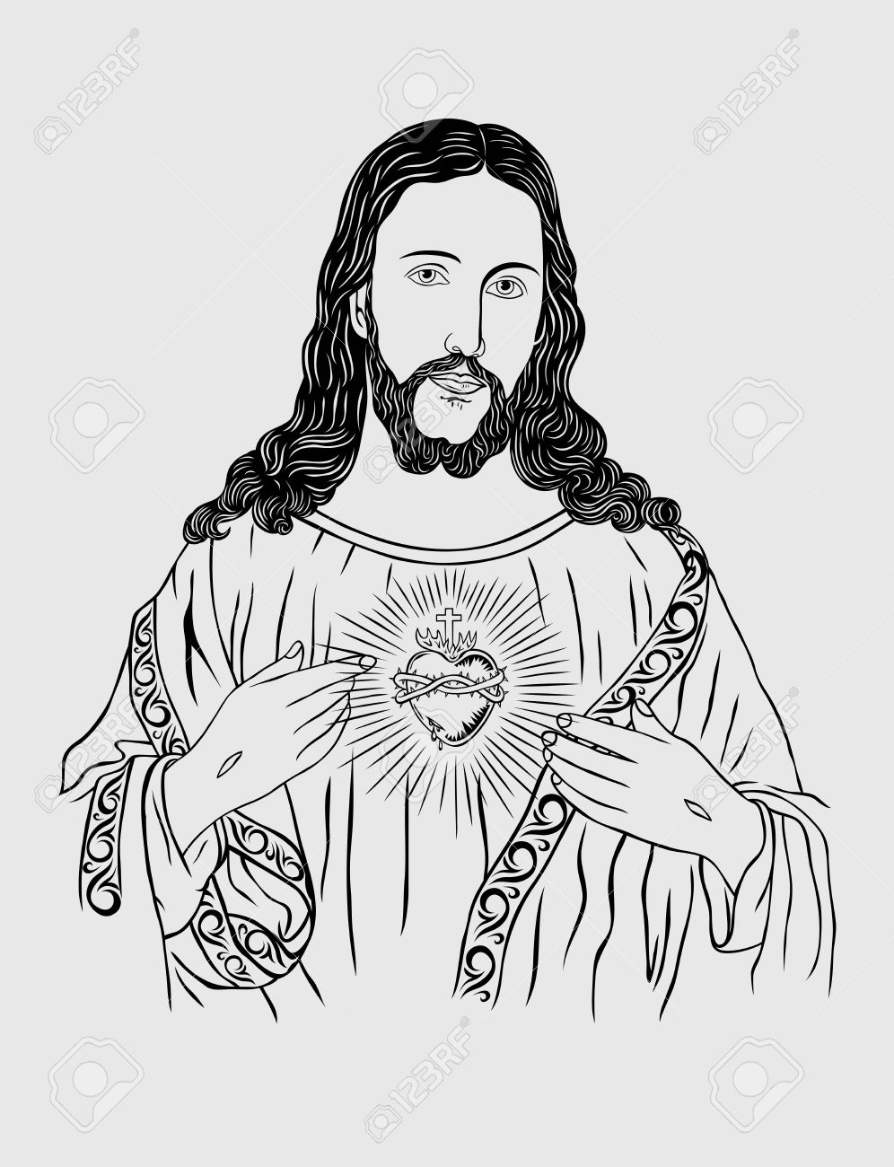 Sacred Heart Of Jesus Art Design