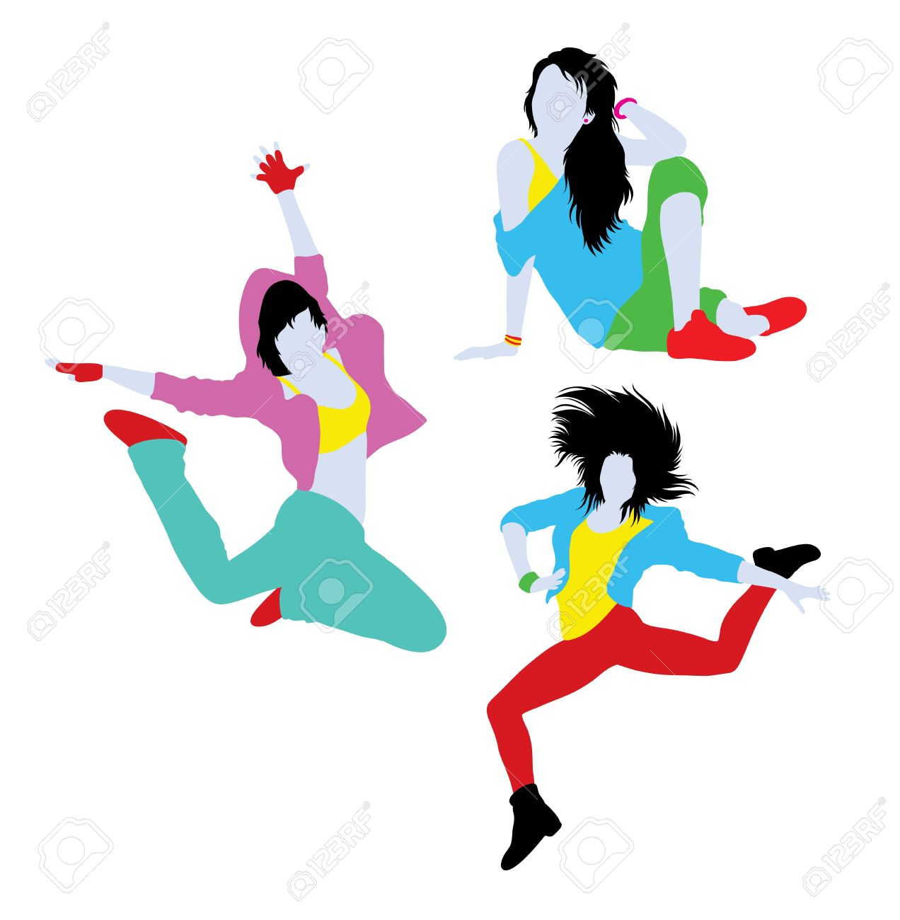 Hip Hop Dancer Silhouettes Illustration Art Vector Design Royalty Free Cliparts Vectors And Stock Illustration Image 64676533