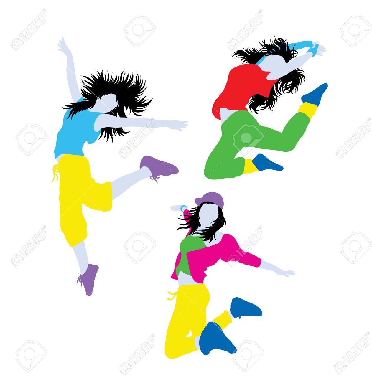 Hip Hop Break Dancing Attivita E Gli Interventi Sagome Disegno