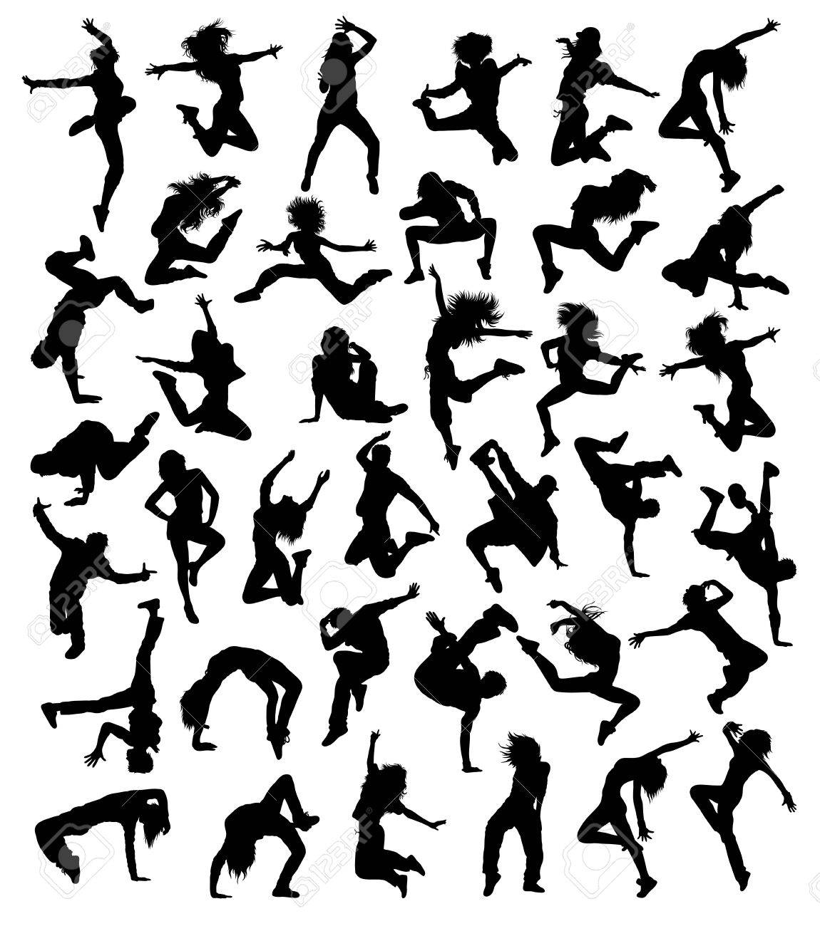 Hip Hop Dancing Collection, illustration art vector design - 66596687