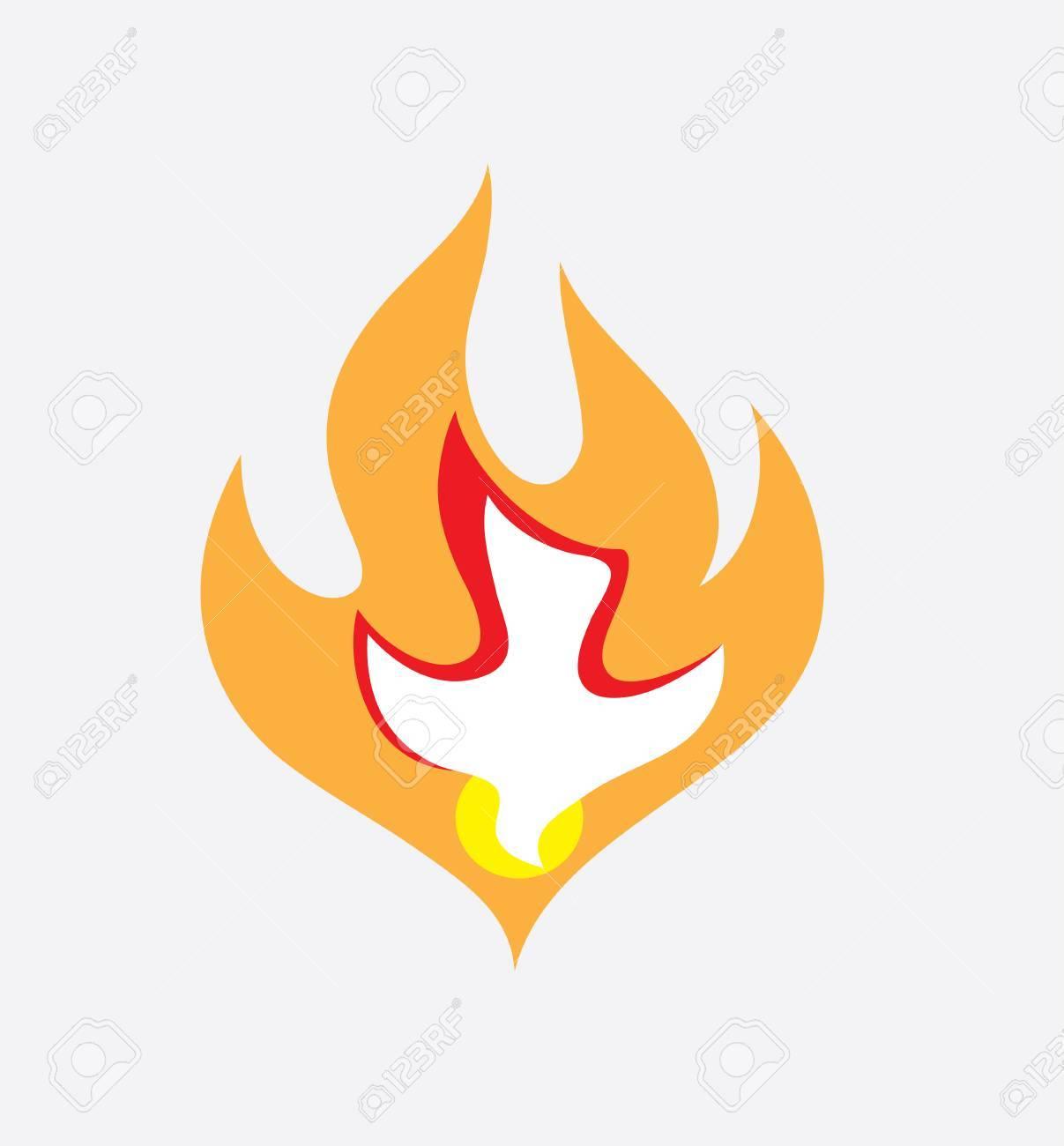 Holy spirit Fire, art vector design - 87158319