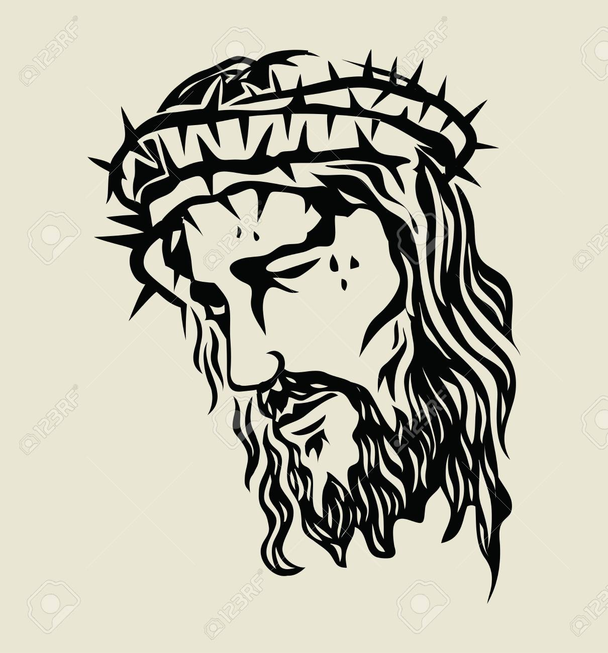 Jesus christ sketch art vector design stock vector 97692573
