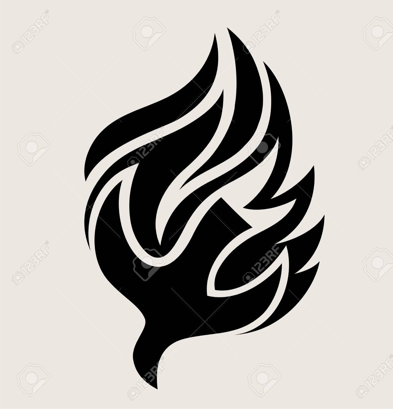 Holyspirit Fire Logo, art vector design illustration - 97907644