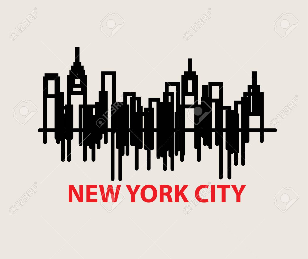 New York City Skyline Art Vector Design Royalty Free Cliparts Vectors And Stock Illustration Image 101886284