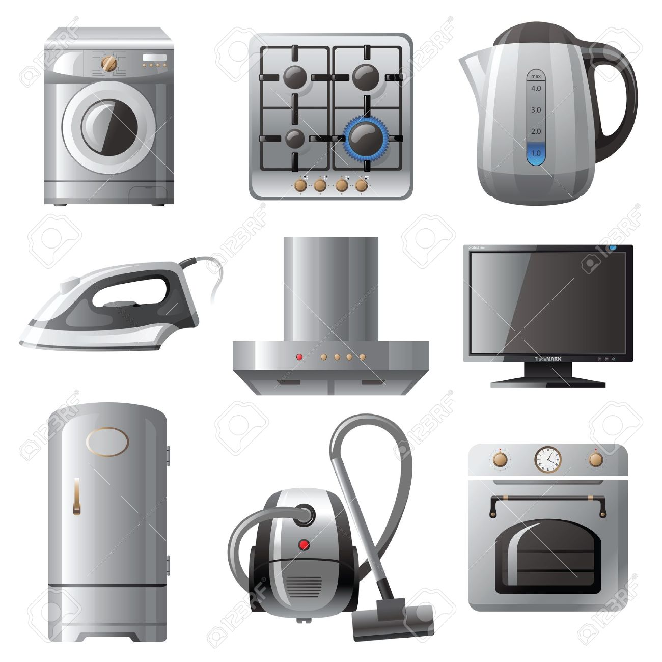Household appliances icons set Stock Vector - 13816005