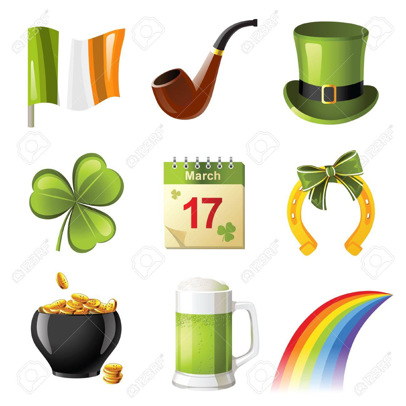 St. Patrick's day icons set Stock Vector - 13816004
