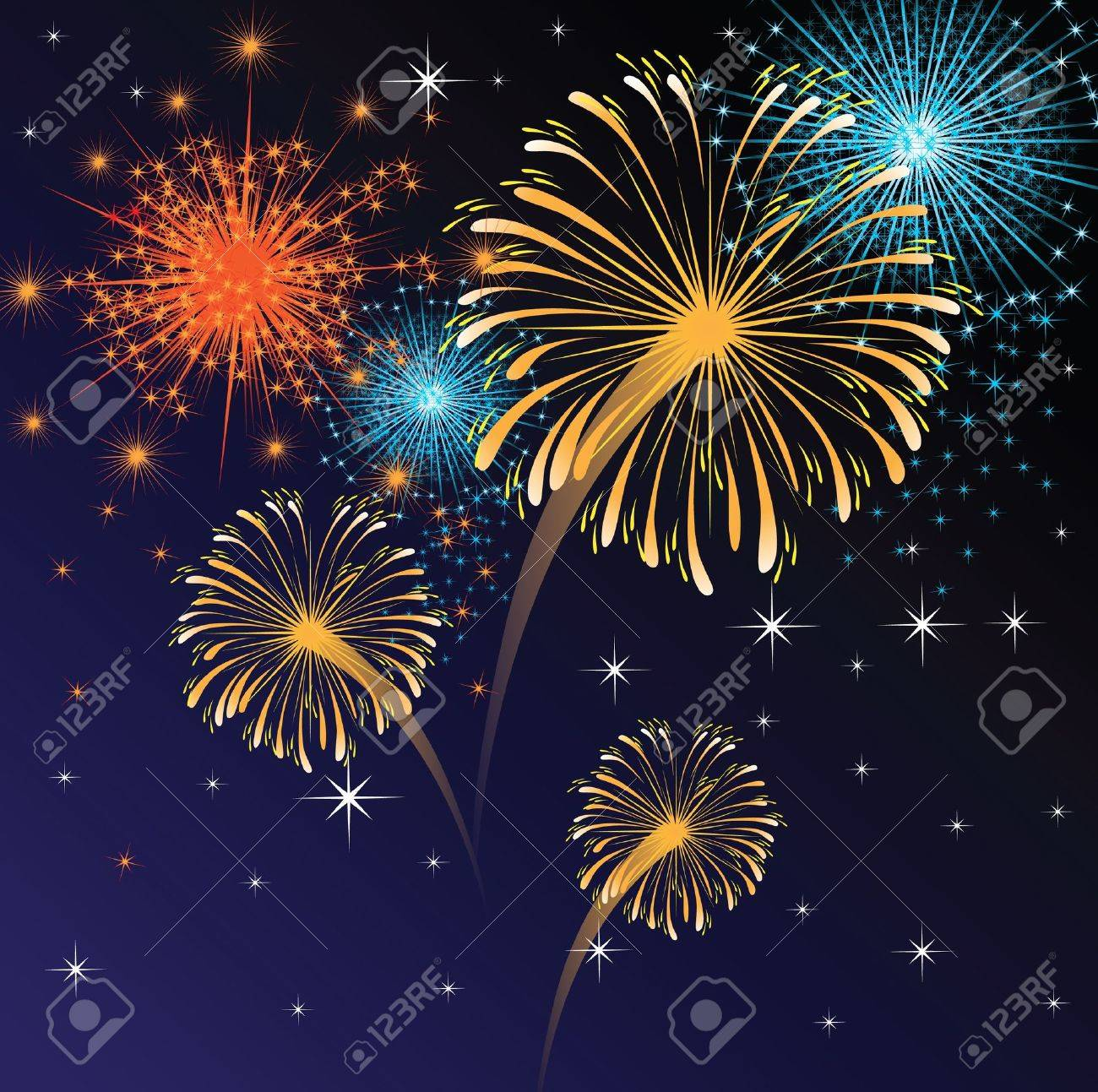 colorful fireworks Stock Vector - 14269997