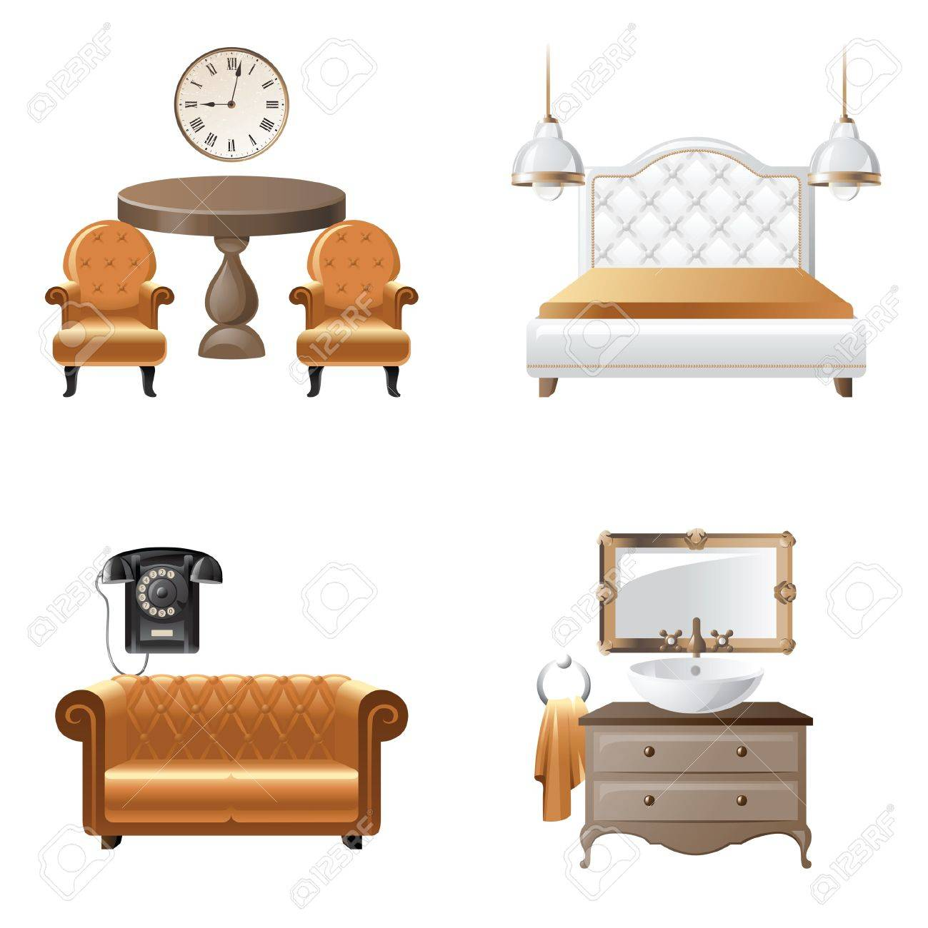 Home Design Elements home interior design elements icons royalty free cliparts, vectors