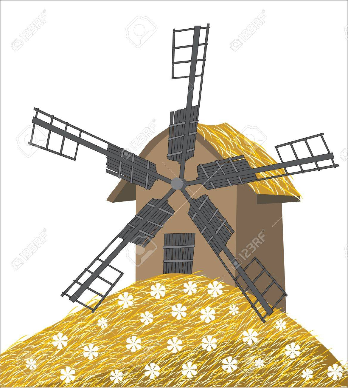 old mill Stock Vector - 14270116