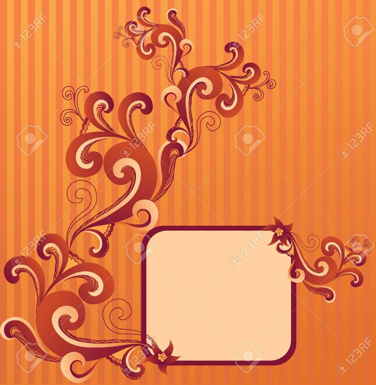 abstract floral frame Stock Vector - 14270114