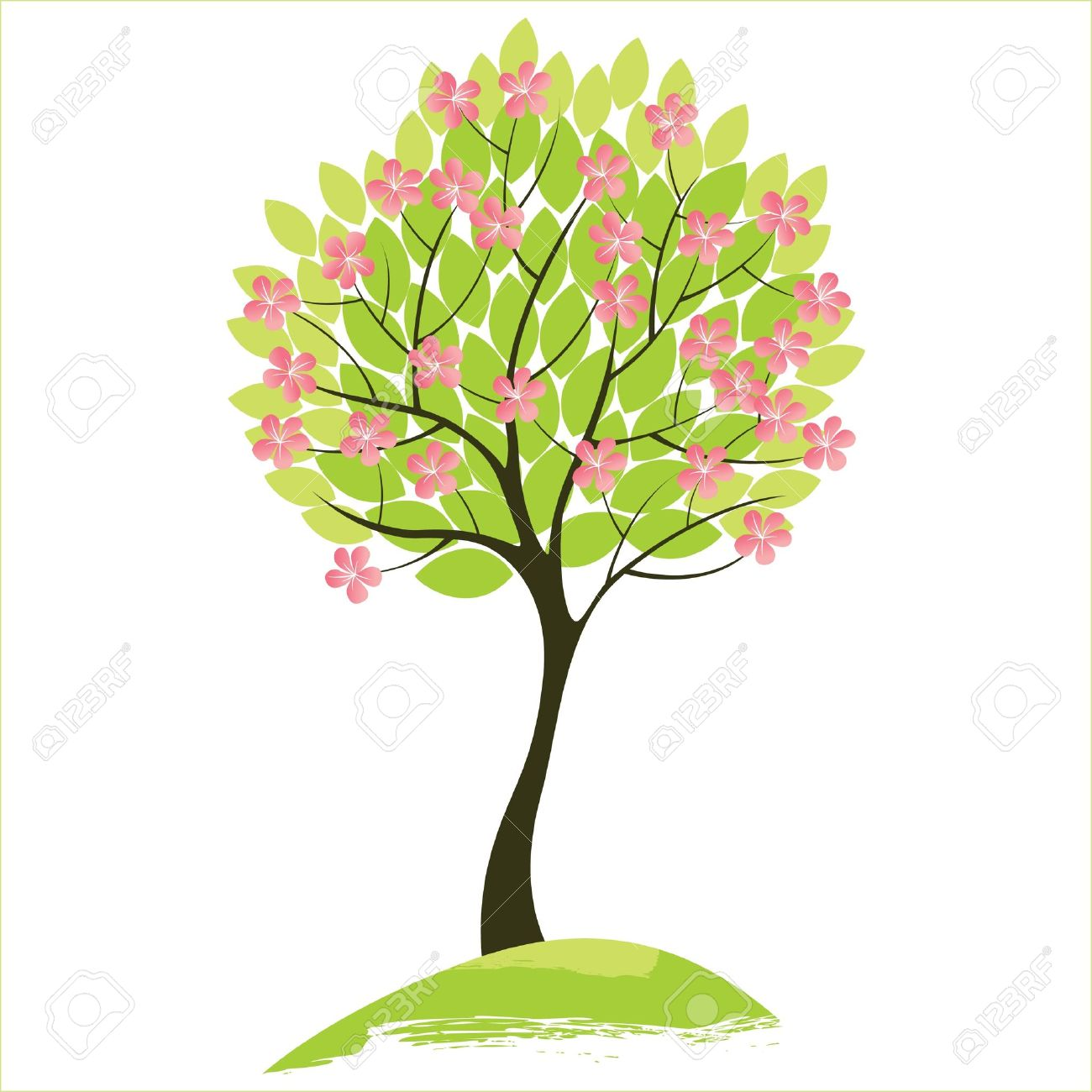 Spring Tree Royalty Free Cliparts Vectors And Stock Illustration