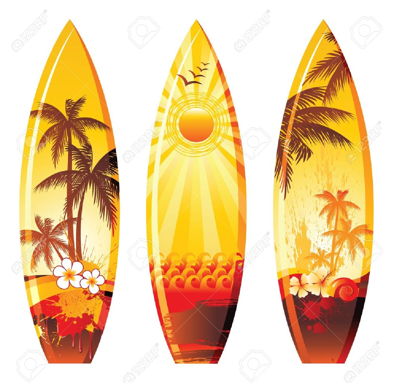 Deco Planche De Surf colorful surf boards
