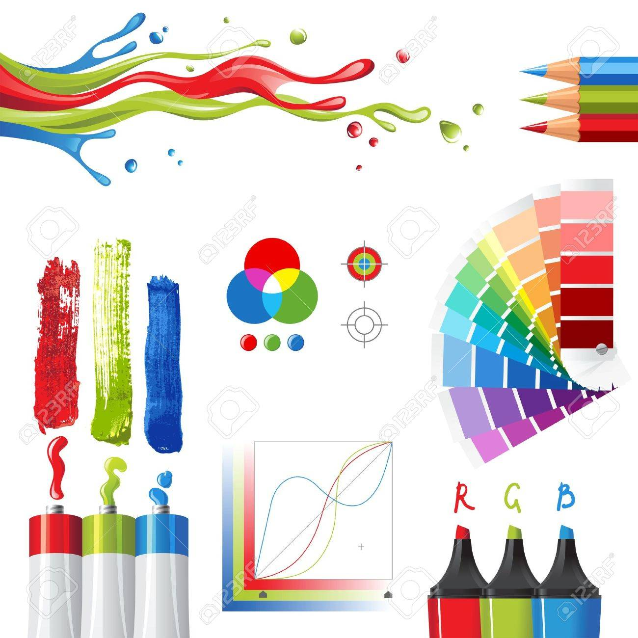 38 611 color palette stock vector illustration and royalty free